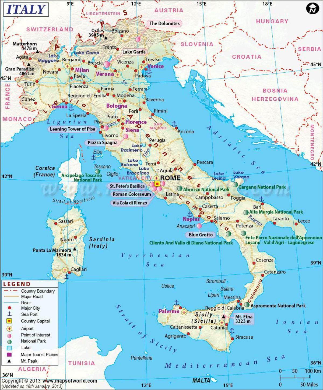 Kartta Milano Italia Ja Ymparoivan Alueen Kartta Milanon Ja