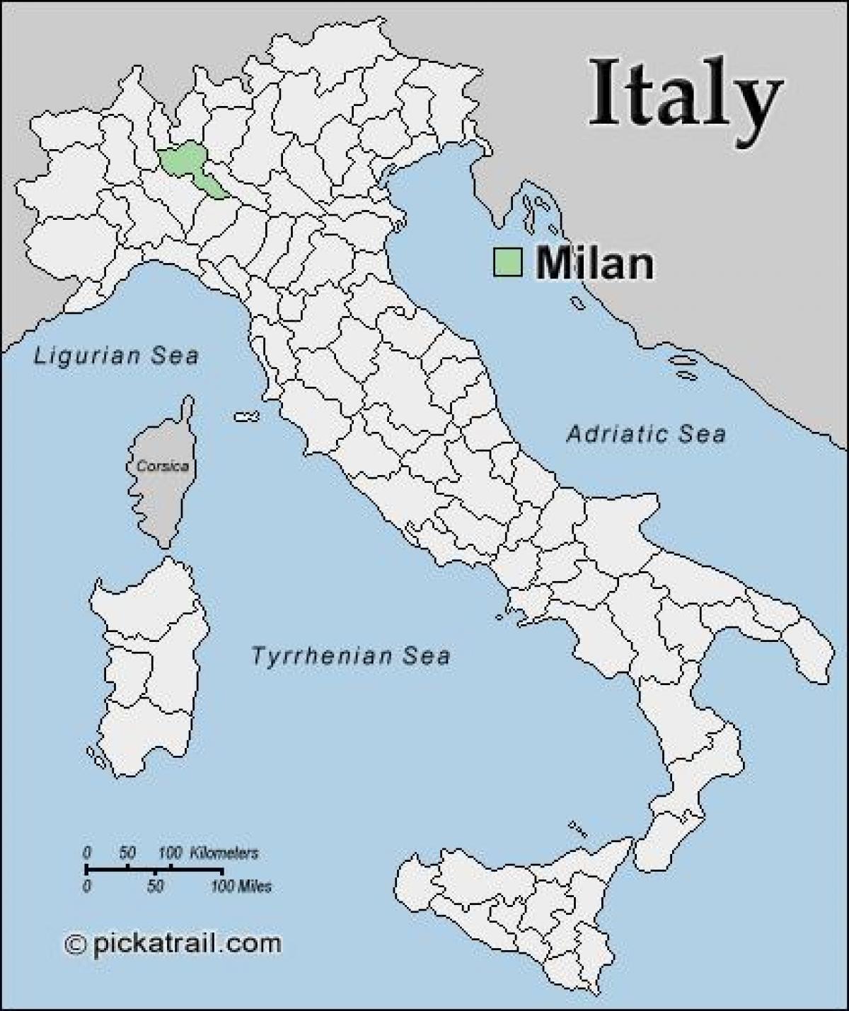 Milano Kartta Euroopan Kartta Milanon Kartta Eurooppa Lombardia