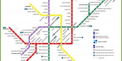 Milano Kartta Kartat Milano Lombardia Italia